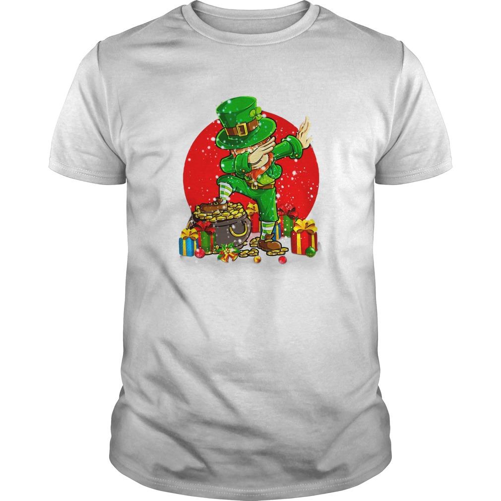 Treasure Dabbing Leprechaun St Patricks Day Christmas shirt guy tee