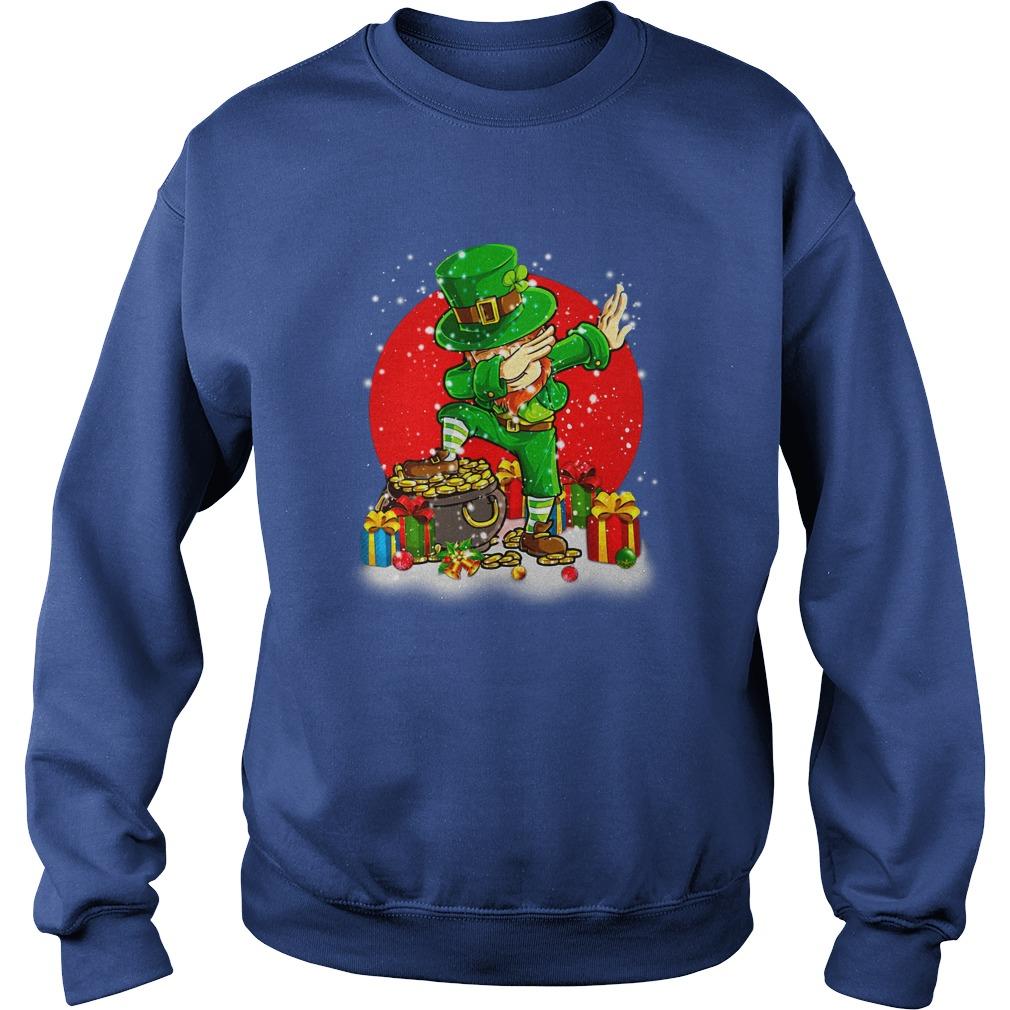 Treasure Dabbing Leprechaun St Patricks Day Christmas shirt sweat shirt