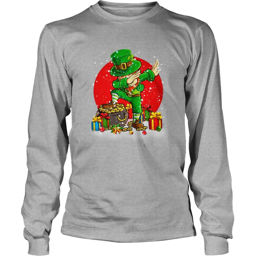 Treasure Dabbing Leprechaun St Patricks Day Christmas shirt unisex longsleeve tee