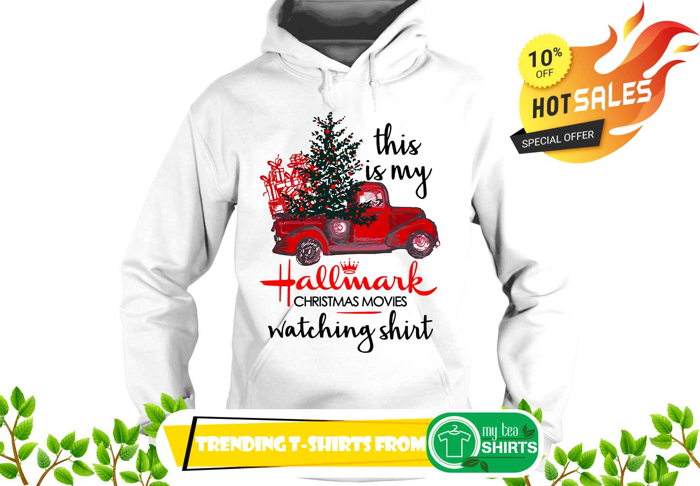 50bf81562 Vintage Truck This is my hallmark christmas movie watching shirt ...