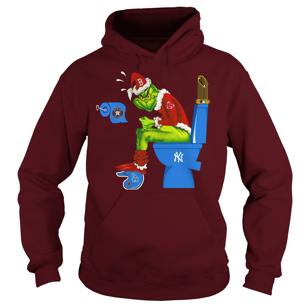 Boston Red Sox Grinch shit on New York Yankees, Los Angeles Dodgers, Houston Astros shirt hoodie