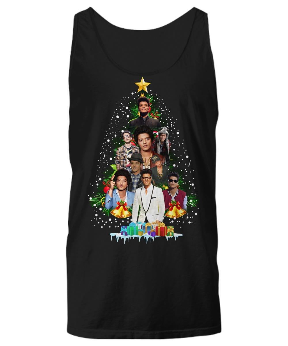 Bruno Mars Christmas tree shirt Tank top