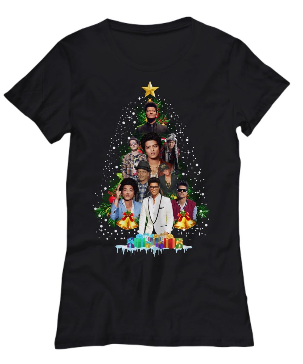 Bruno Mars Christmas tree shirt Women's Tee