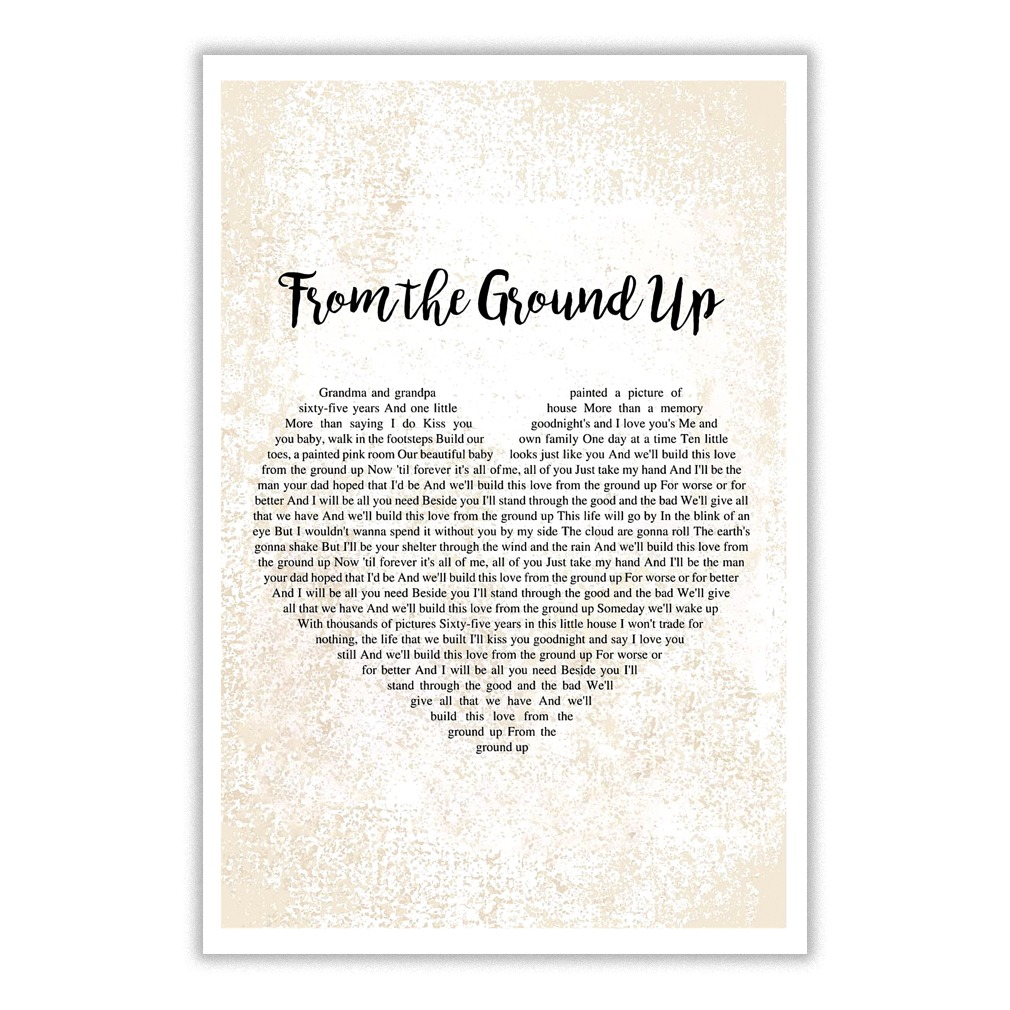 From The Ground Up dan and shay - from the ground up lyrics heart typography poster