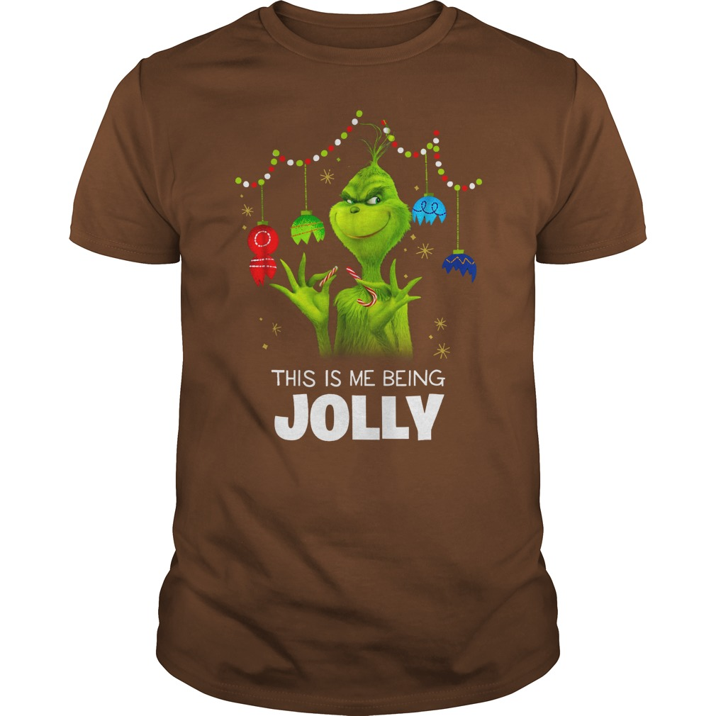 Dr. Seuss The Grinch Being Jolly shirt guy tee