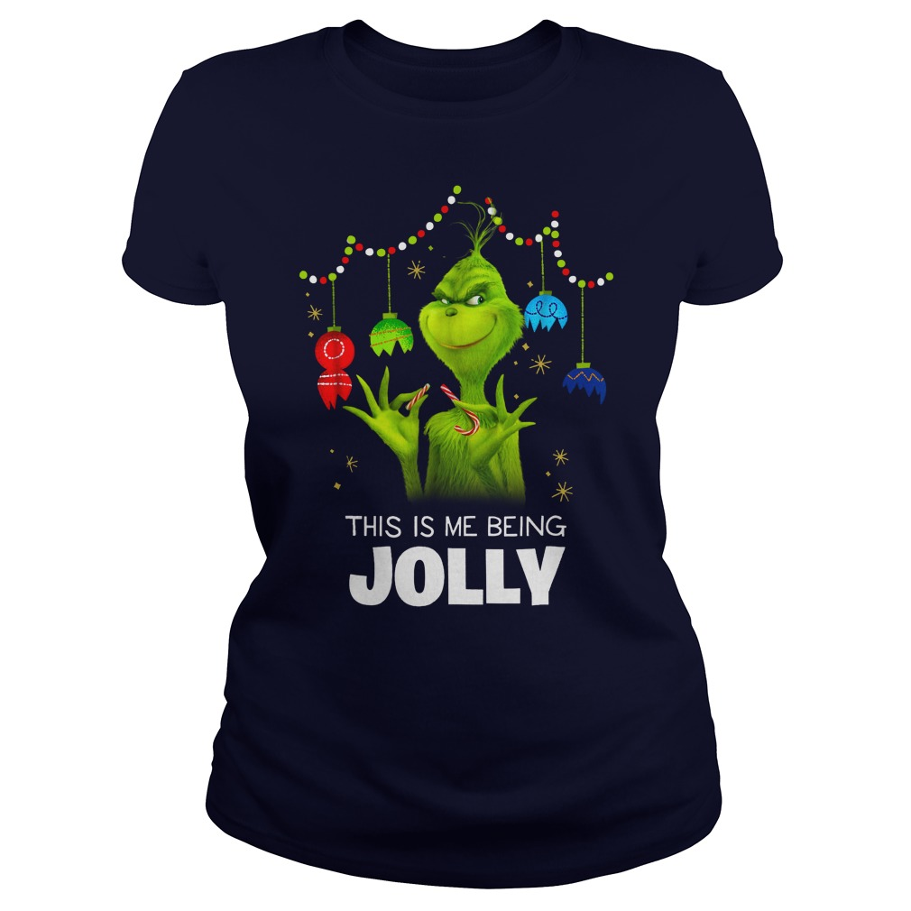 Dr. Seuss The Grinch Being Jolly shirt lady tee