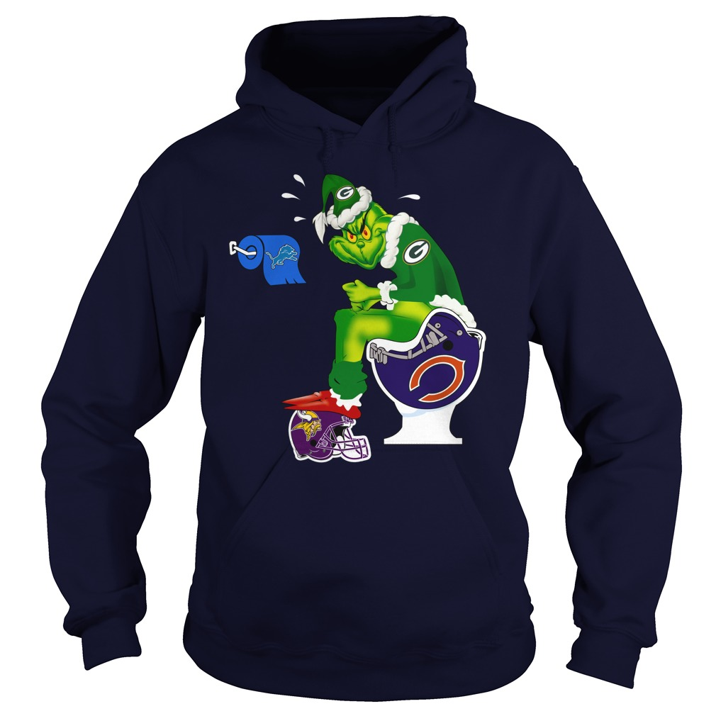 Green Bay Packers Grinch shit on Bears, Vikings and Lions shirt hoodie