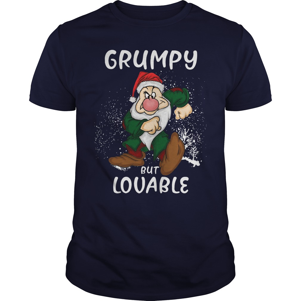 Grumpy but lovable christmas shirt guy tee