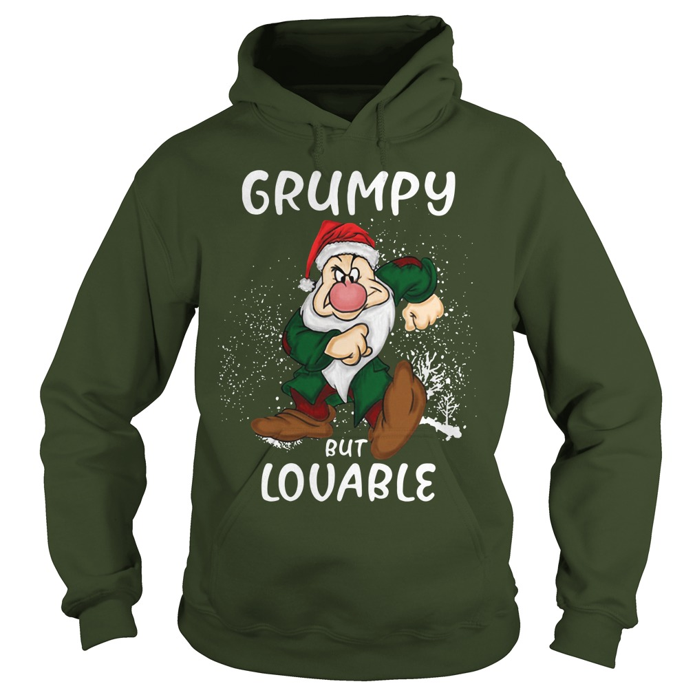 Grumpy but lovable christmas shirt hoodie