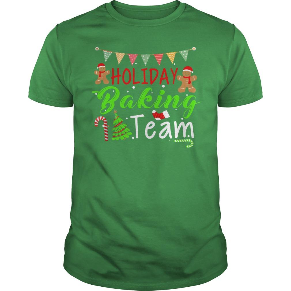 Holiday Baking Team Christmas shirt guy tee