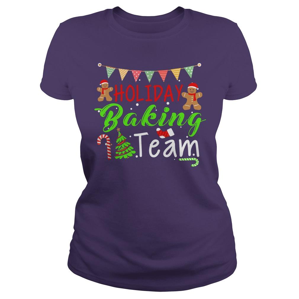 Holiday Baking Team Christmas shirt lady tee