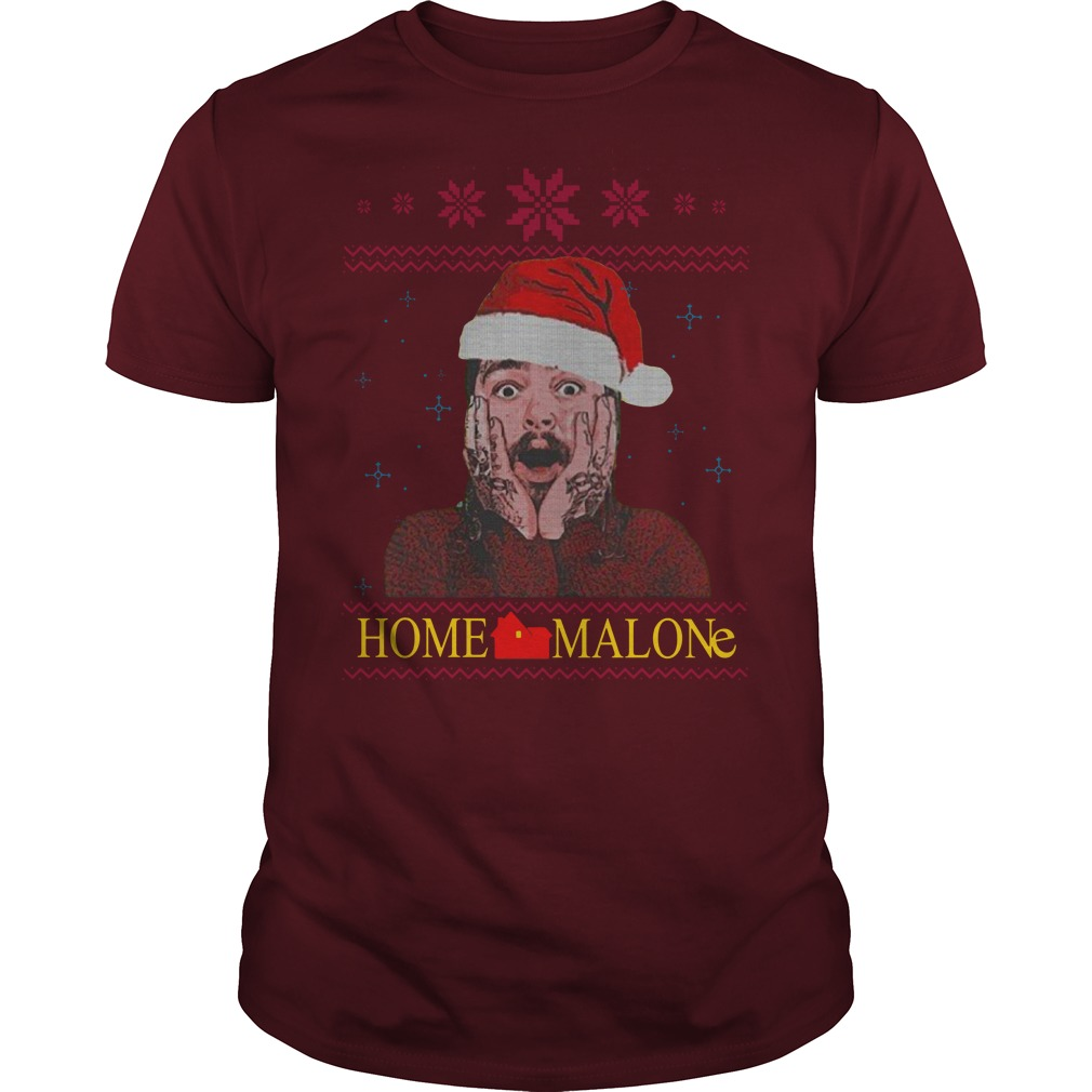 Home Malone Ugly Christmas Sweater guy tee