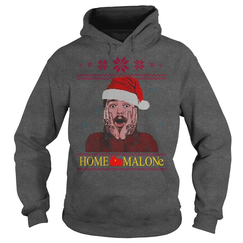 Home Malone Ugly Christmas Sweater hoodie
