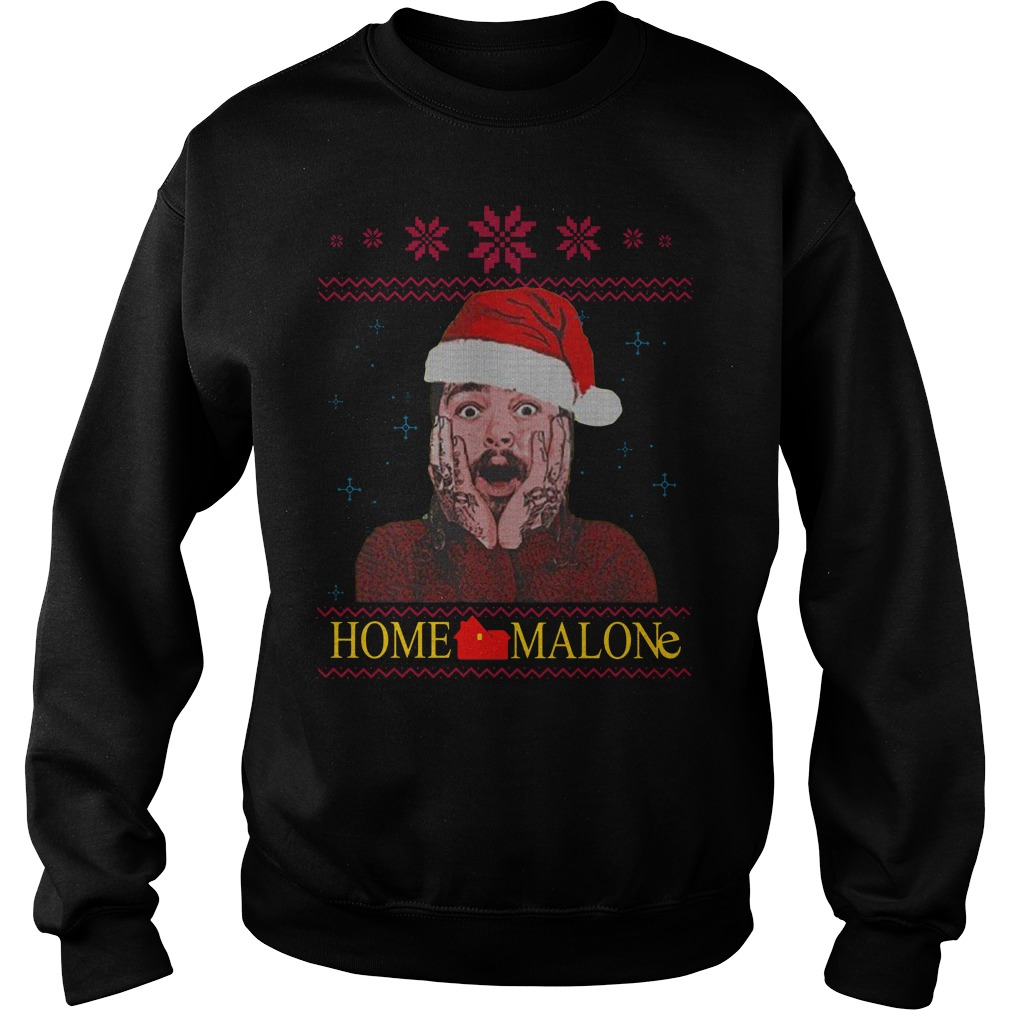 Home Malone Ugly Christmas Sweater sweat shirt