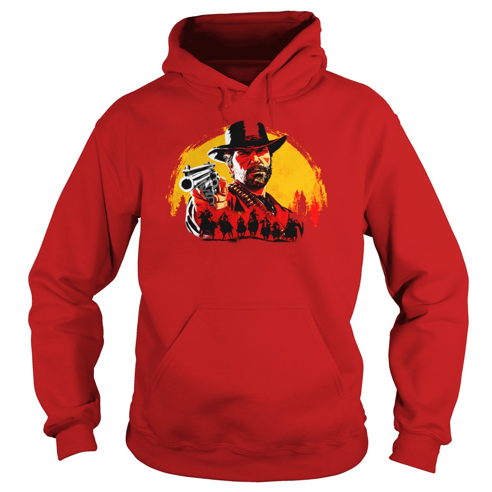 John Marston Red Moon Cowboy Red Dead Redemption shirt hoodie