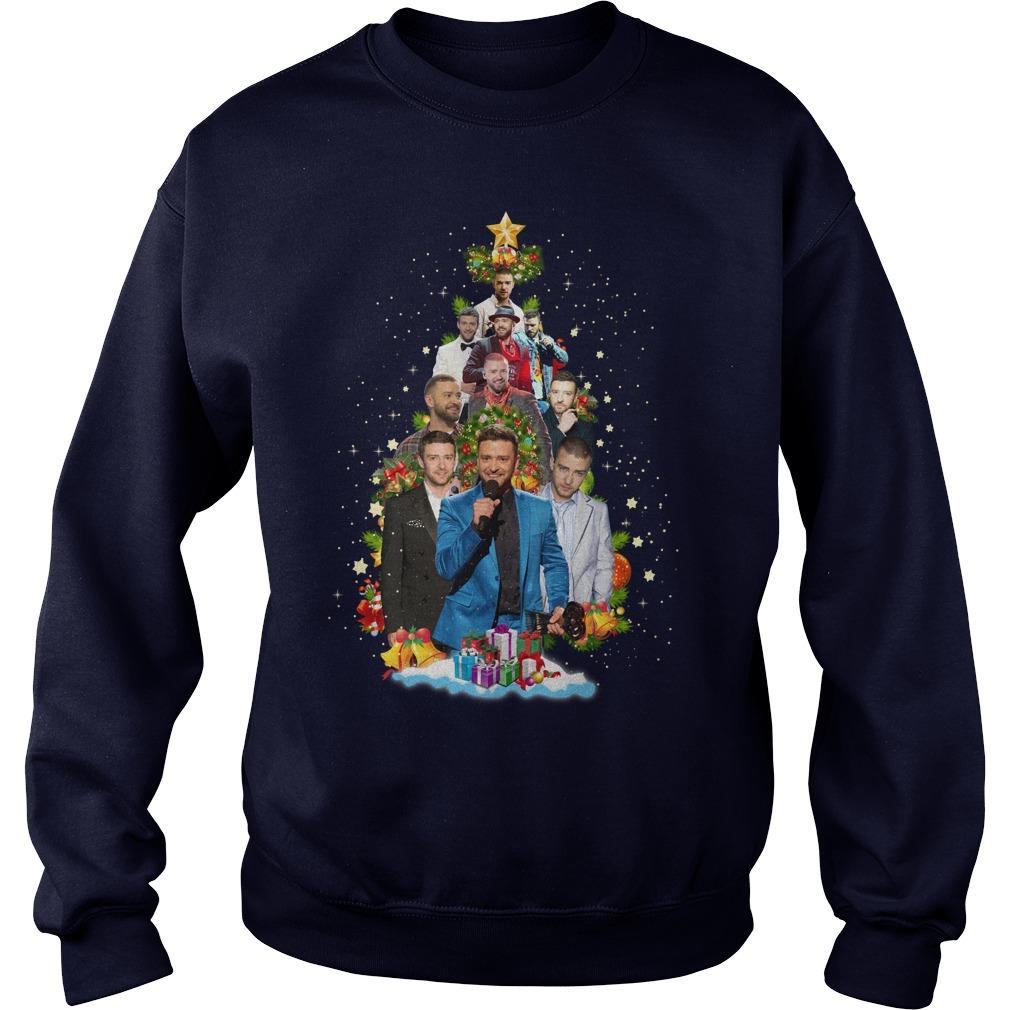 Justin Timberlake Passionate Christmas Tree shirt sweat shirt