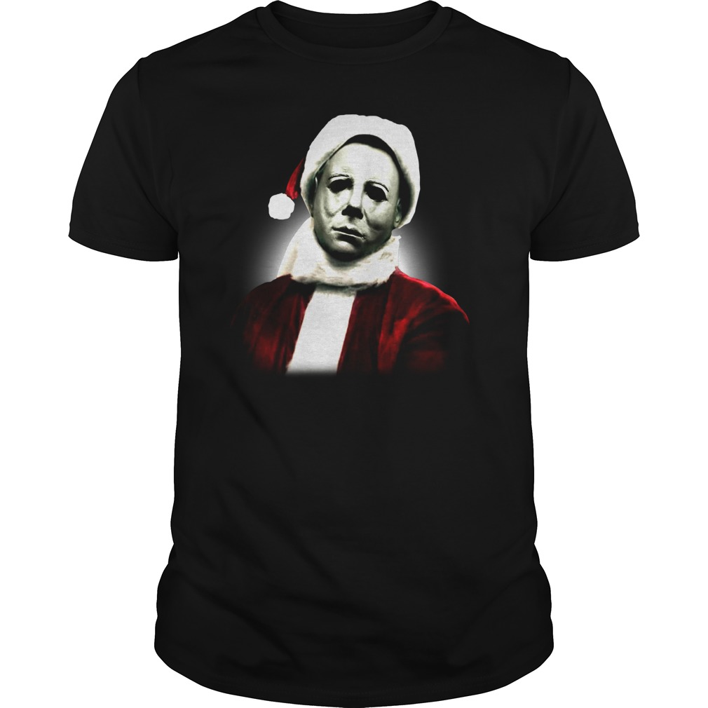 Michael Myers Santa Hat Christmas Shirt Hoodie Sweater Myteashirts