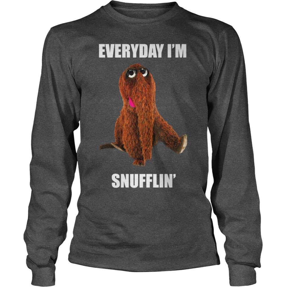 Mr. Snuffleupagus Everyday I'm Snufflin' shirt unisex longsleeve tee