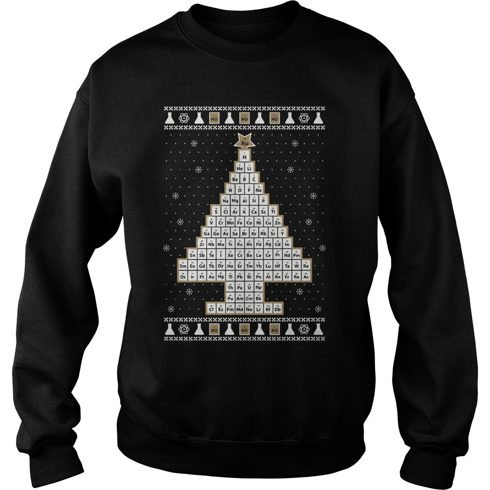 Oh Chemistry Christmas Tree Ugly Sweater sweat shirt