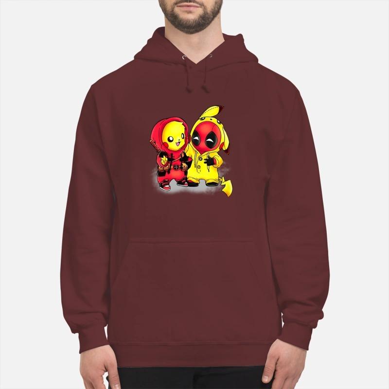 Pikapool Pikachu Pokemon and Deadpool shirt hoodie - Pikachu deadpool shirt