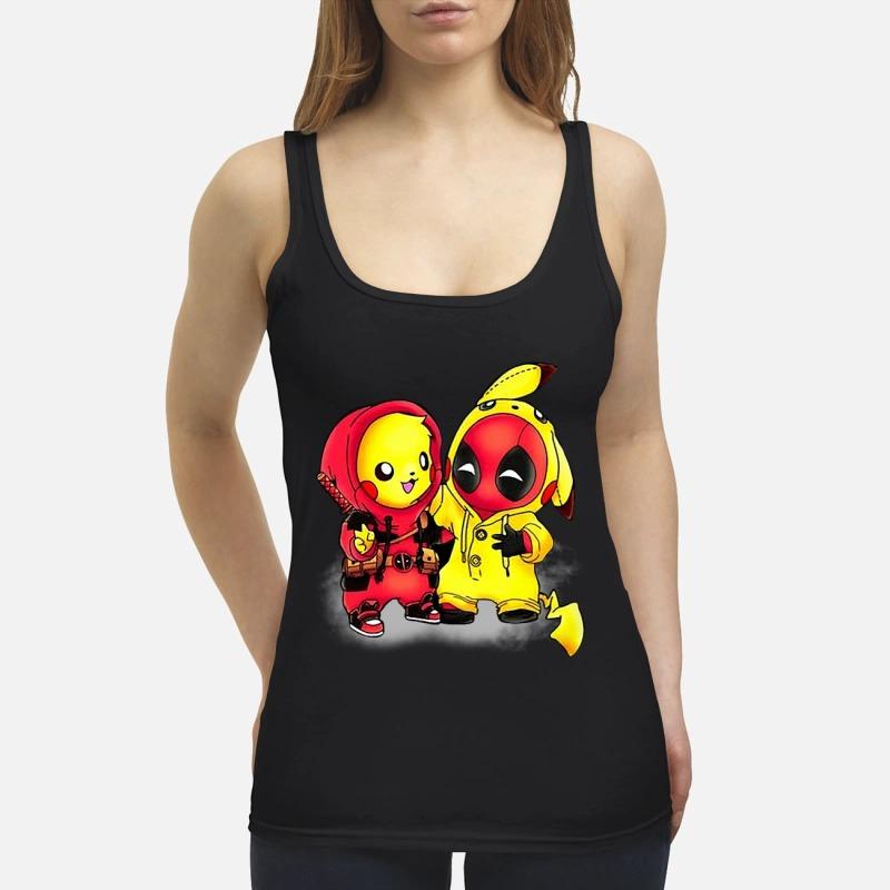 Pikapool Pikachu Pokemon and Deadpool shirt tank top - Pikachu deadpool shirt