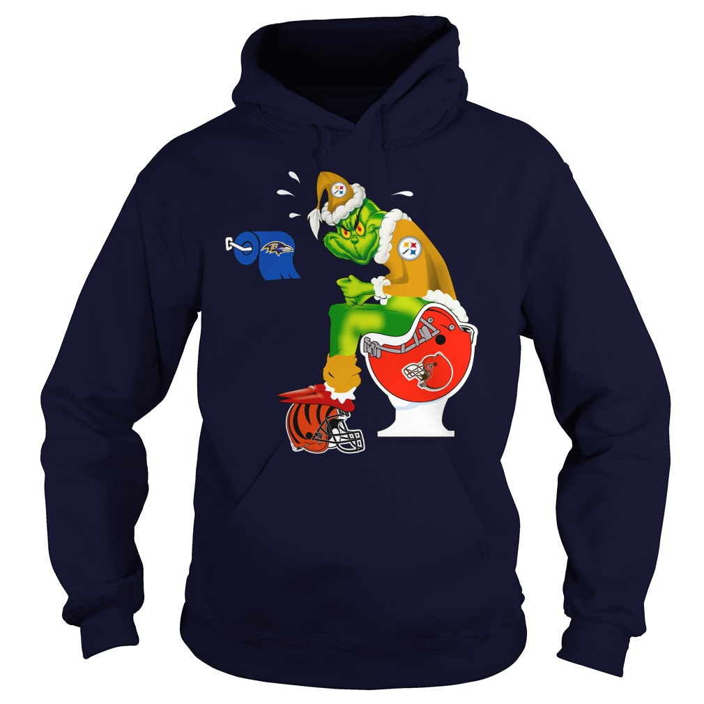 Pittsburgh Steelers Grinch shit on Browns, Bengals and Ravens shirt hoodie