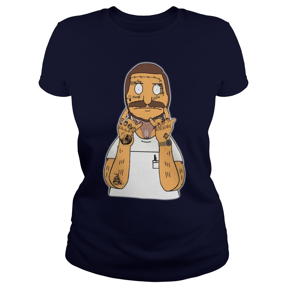Post Malone Bob Belcher shirt lady tee