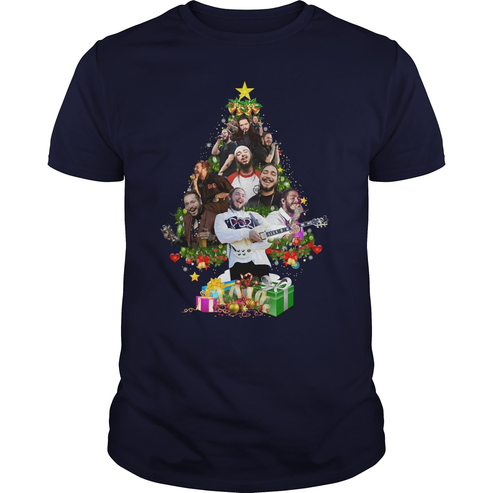 Post Malone Christmas Tree shirt guy tee