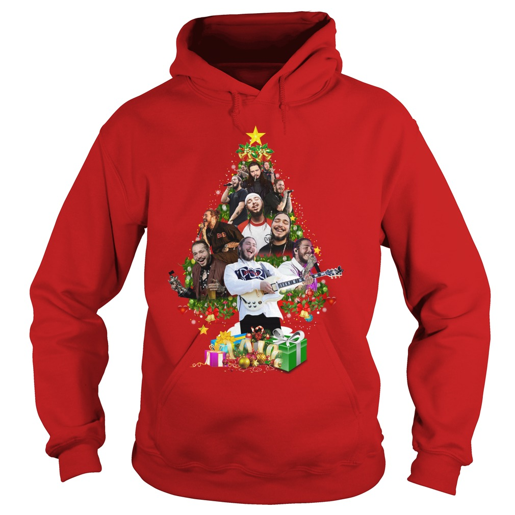 Post Malone Christmas Tree shirt hoodie
