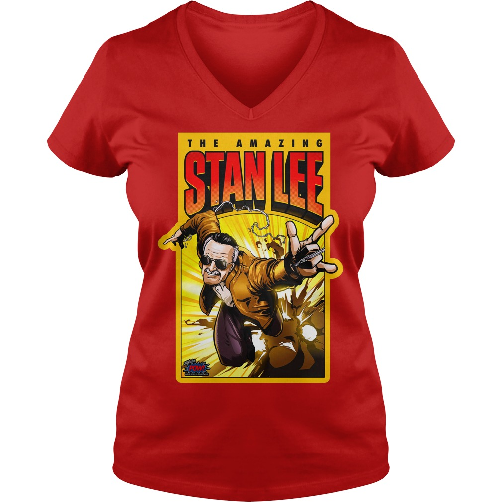 Pow! Entertainment's Amazing Stan Lee shirt lady v-neck