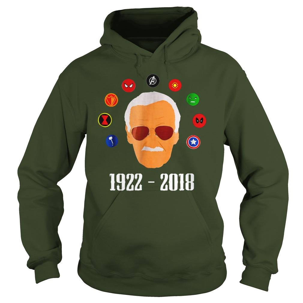 RIP Stan Lee 1922 2018 shirt hoodie