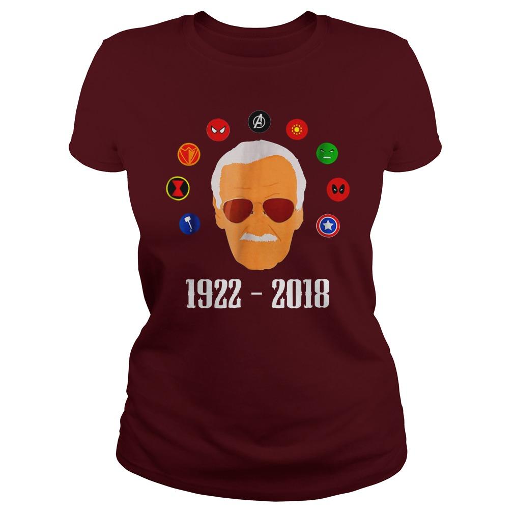 RIP Stan Lee 1922 2018 shirt lady tee