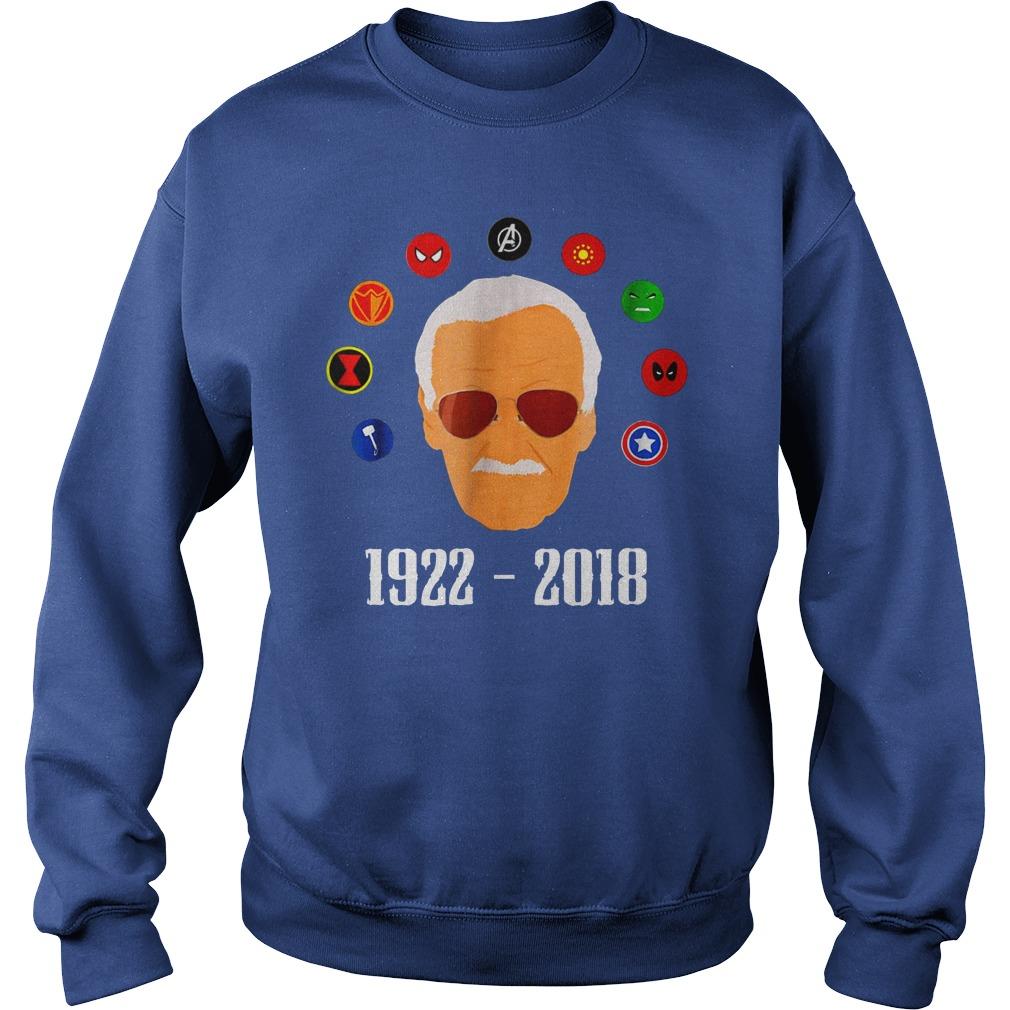 RIP Stan Lee 1922 2018 shirt sweat shirt