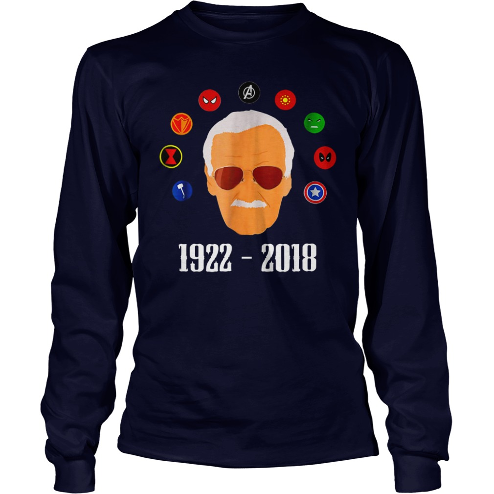 RIP Stan Lee 1922 2018 shirt unisex longsleeve tee