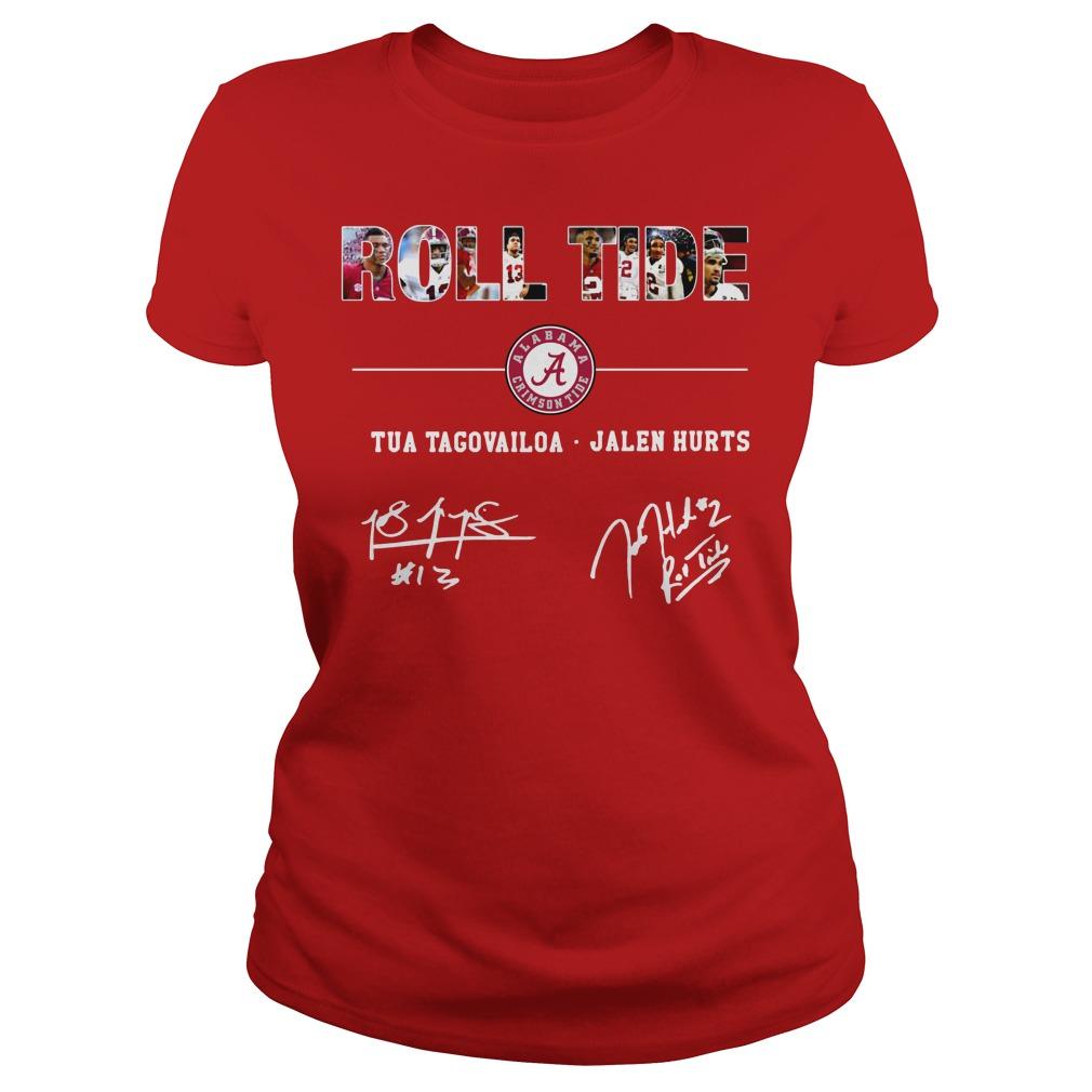 Roll Tide Tua Tagovailoa Jalen Hurts shirt lady tee