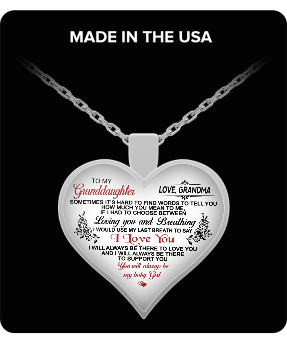 Sometimes, it's hard to find words to tell you how much you mean to me heart necklace