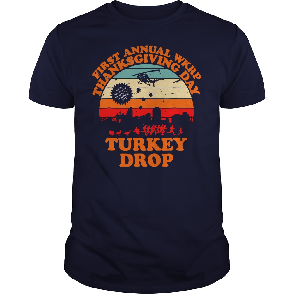Vintage First Annual WKRP Thanksgiving Day Turkey drop shirt guy tee