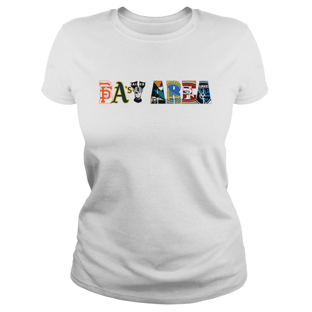 Bay Area Sports Teams shirt lady tee