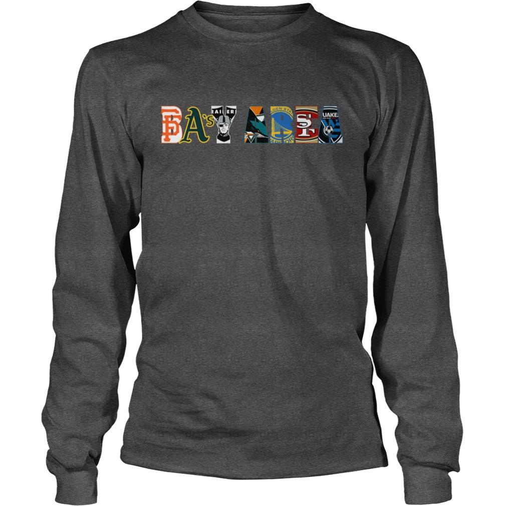 Bay Area Sports Teams shirt unisex longsleeve tee