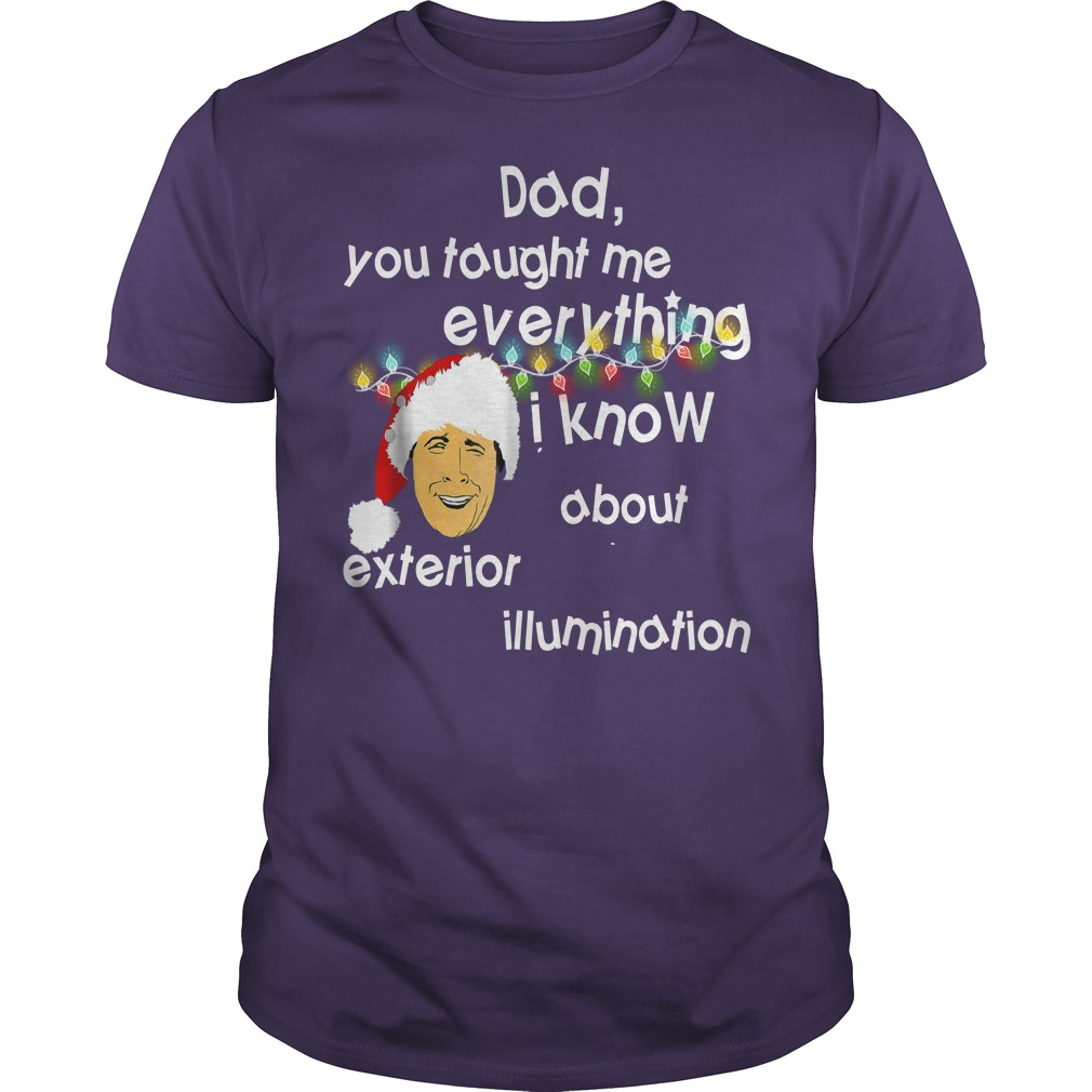 Dad you taught me everything i know about exterior illumination shirt