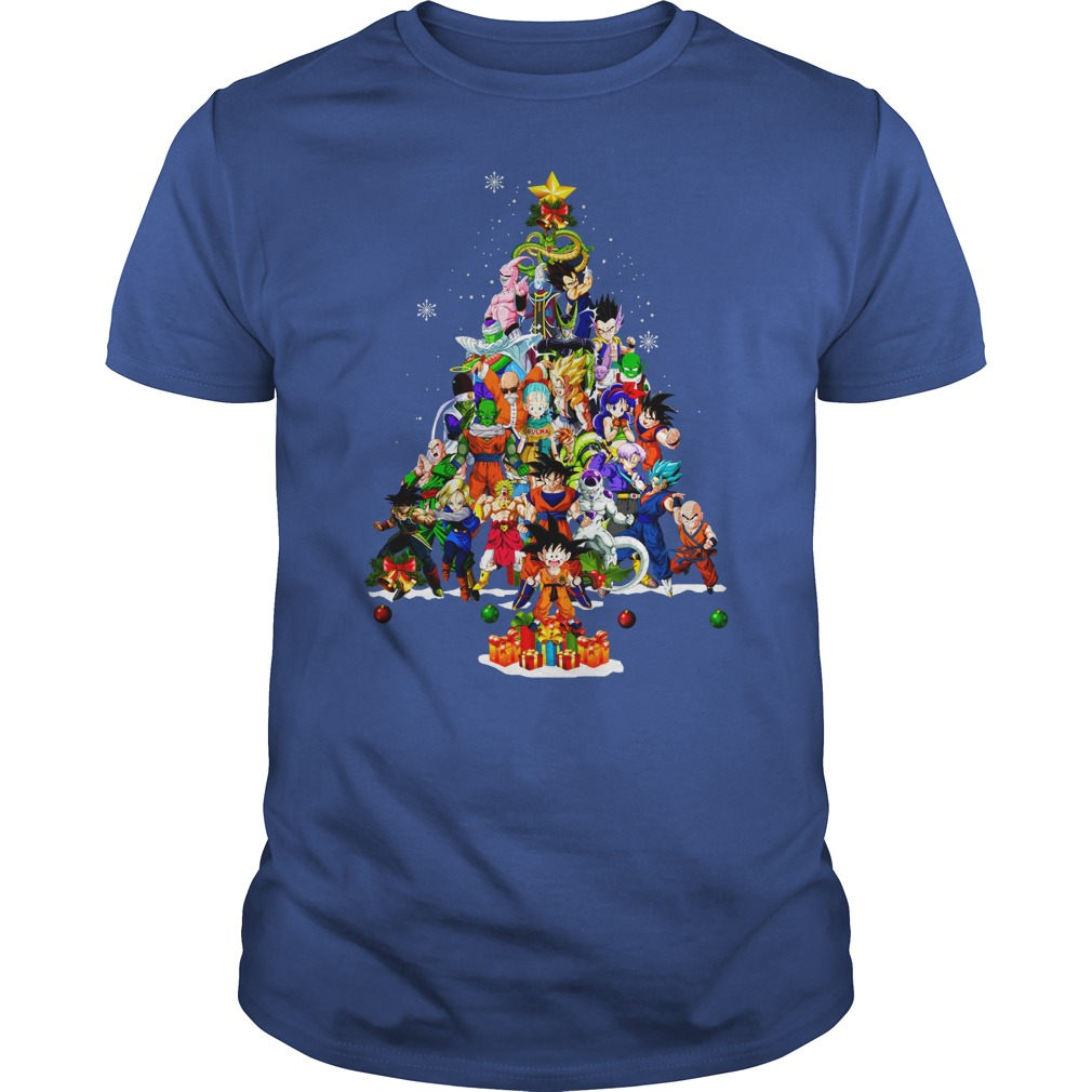 Dragonball Christmas Tree Shirt guy tee