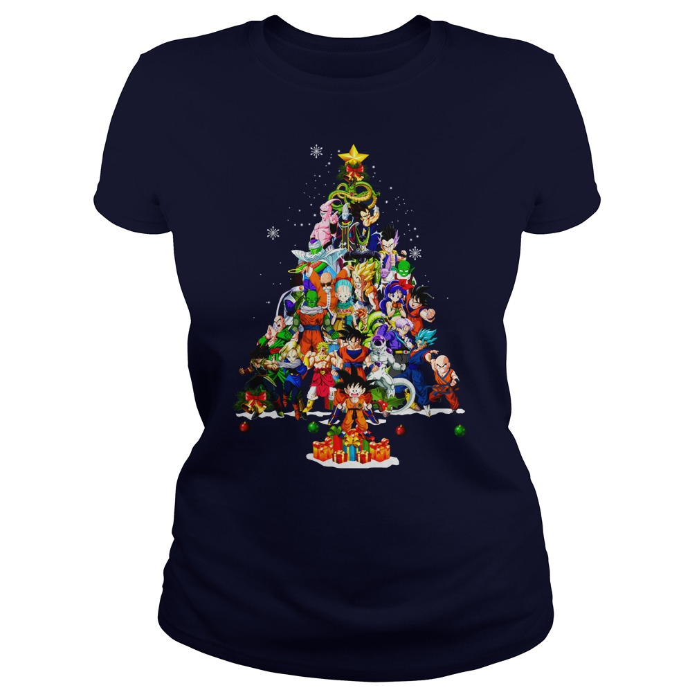 Dragonball Christmas Tree Shirt lady tee