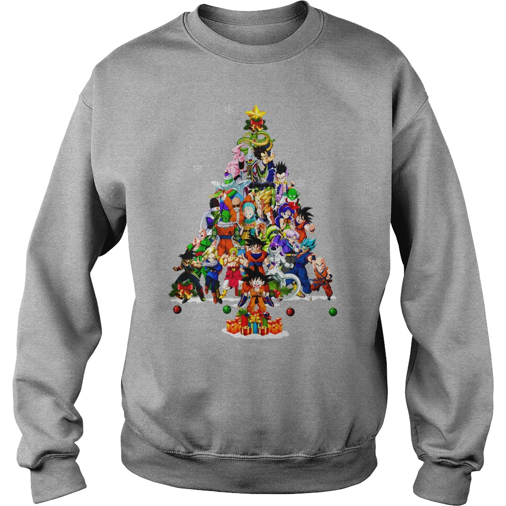 Dragonball Christmas Tree Shirt sweat shirt