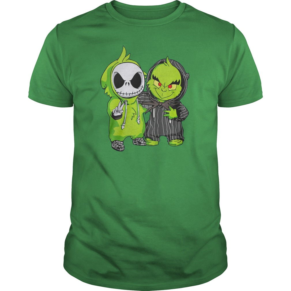 Grinch and Jack Skellington shirt guy tee