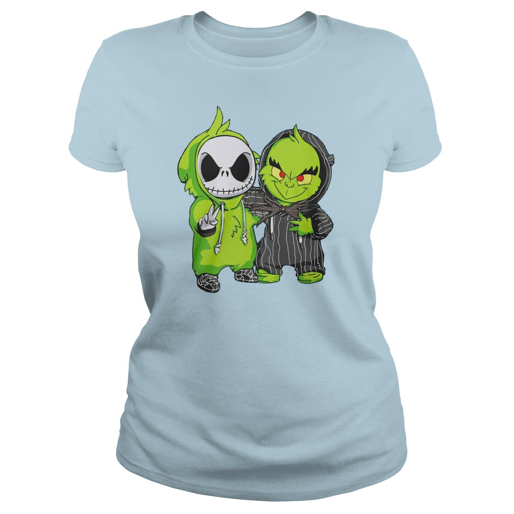 Grinch and Jack Skellington shirt lady tee