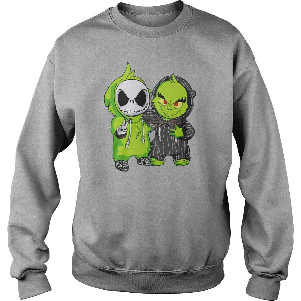 Grinch and Jack Skellington shirt sweat shirt