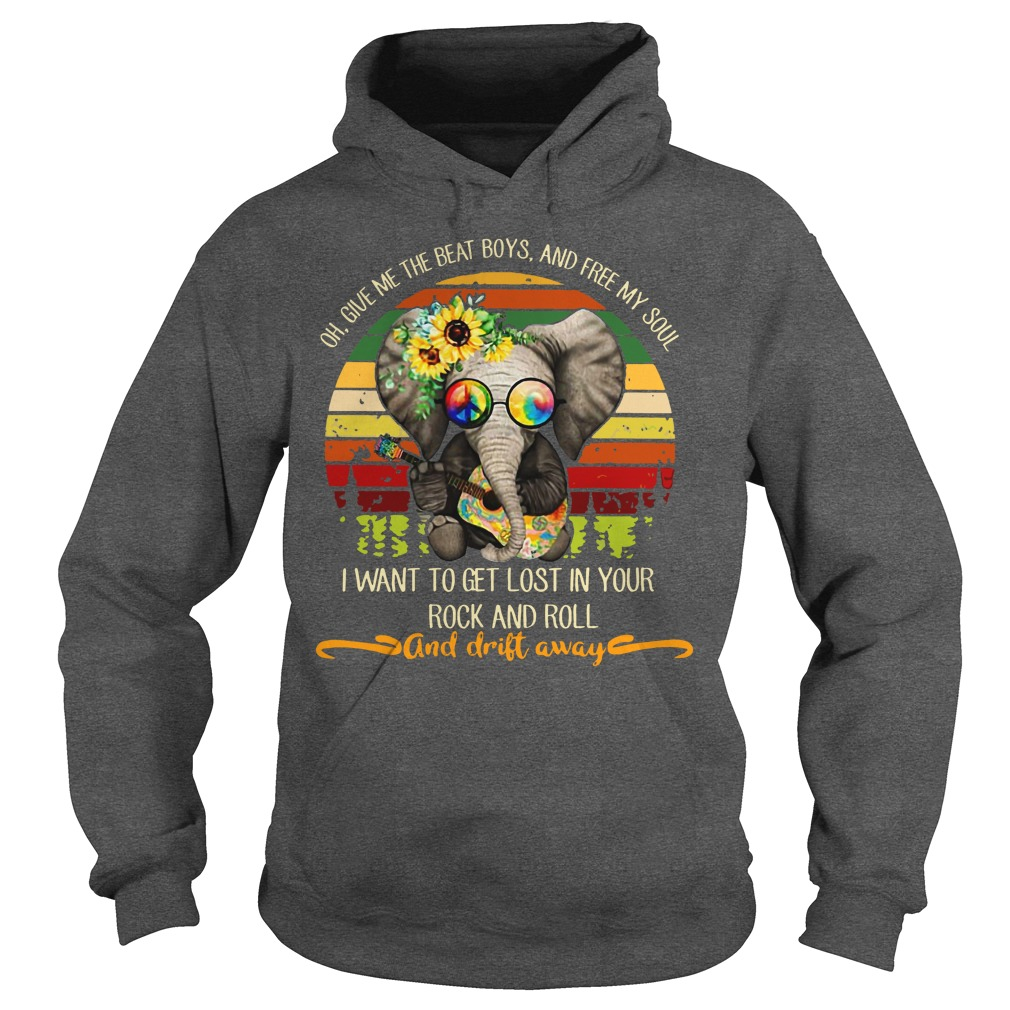 Hippie Elephant oh give me the beat boys and free my soul shirt hoodie