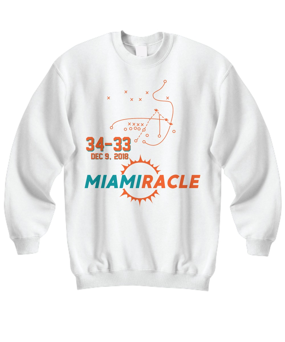 Miami Miracle Funny Miami Football Dolphins shirt Sweatshirt