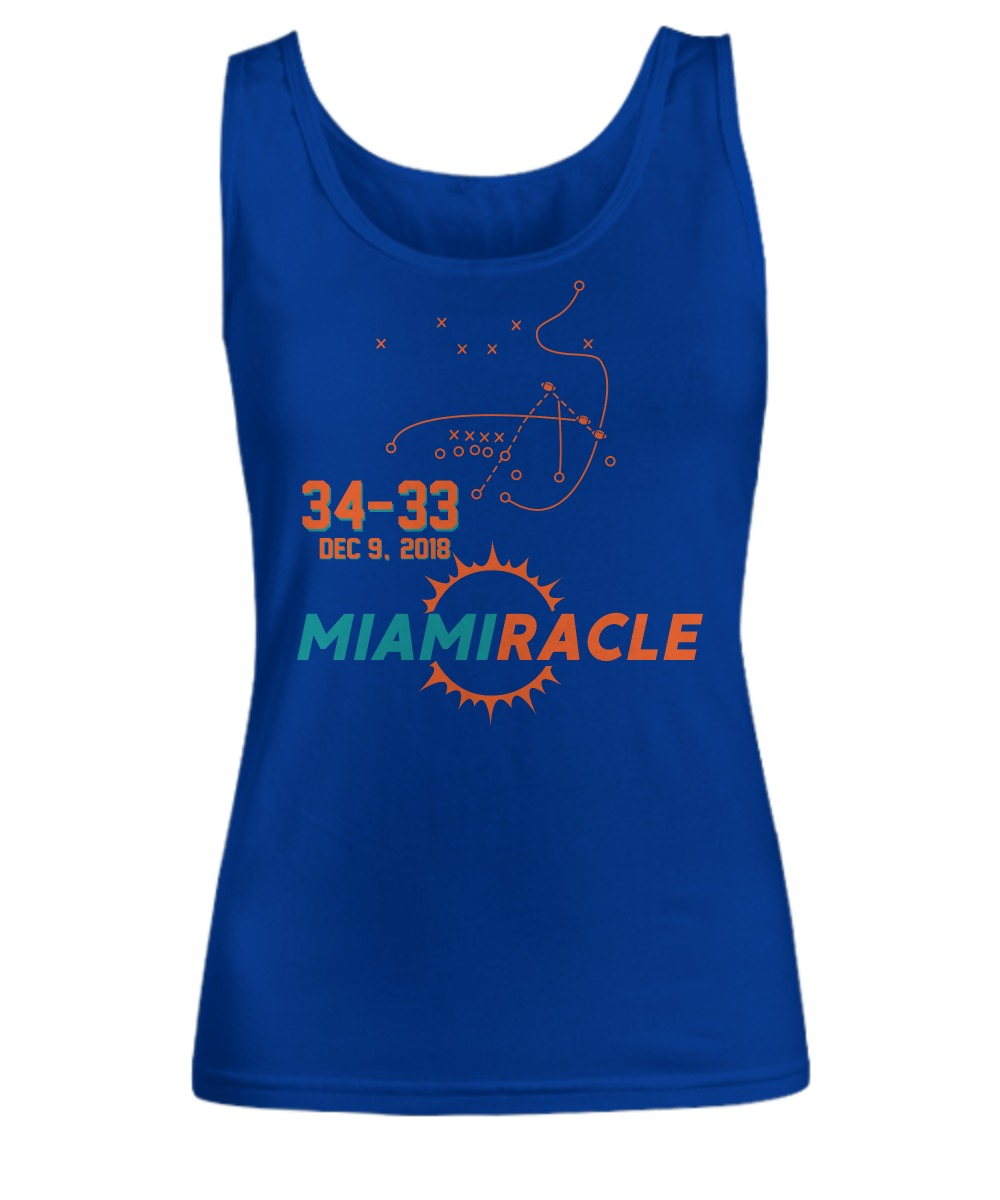 Miami Miracle Funny Miami Football Dolphins shirt Women's Tank Top