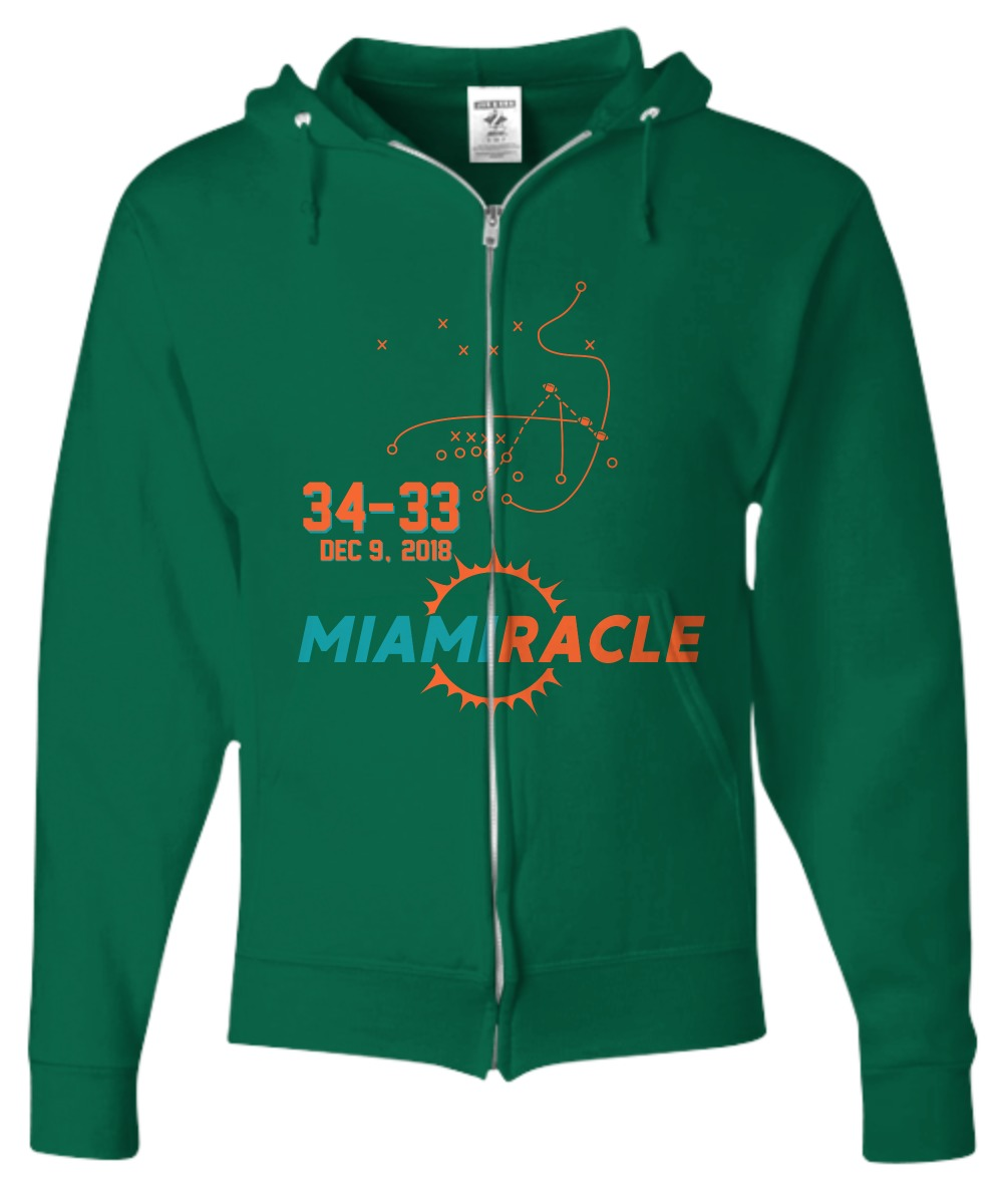 Miami Miracle Funny Miami Football Dolphins shirt Zip Hoodie